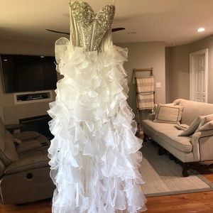 Sherri Hill High Low dress size 2. Worn once